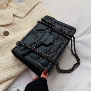 Kožená zajímavá malá luxusní kabelka