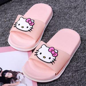 Dívčí letní pantofle s Hello Kitty