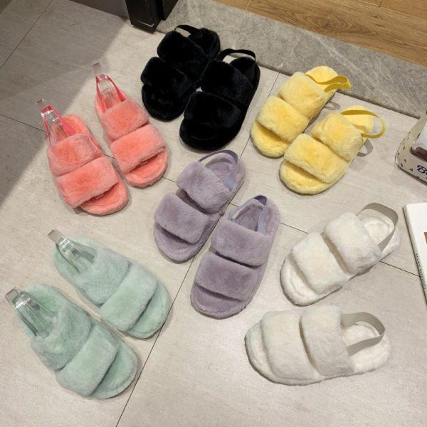 Dámské plyšové domácí pantofle