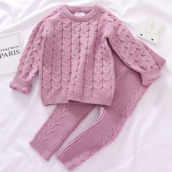 Dívčí kašmírový pletený set