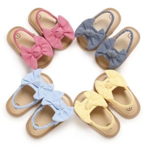 Dívčí letní sandále s mašlí