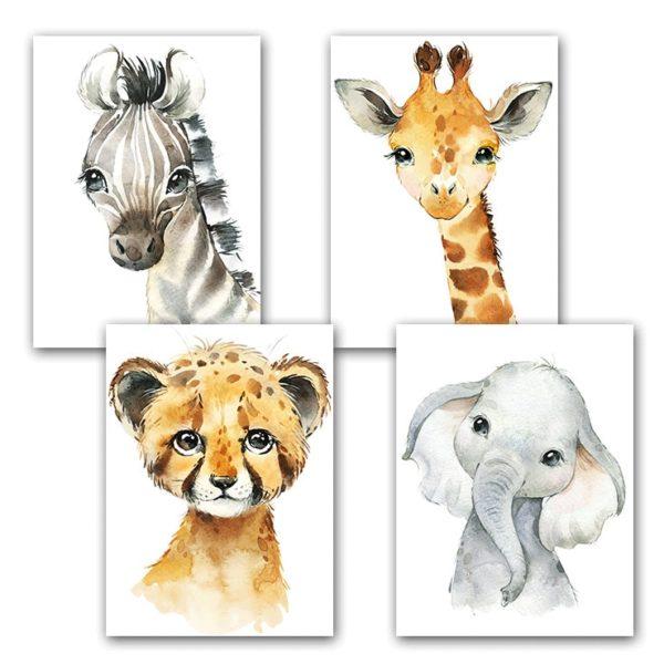 Obraz na plátně pro děti s motivy zvířat