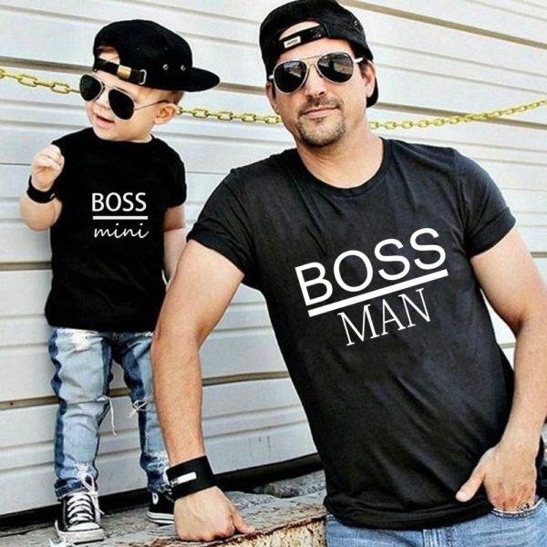 Originální rodinná trička pro otce a syna