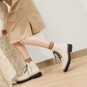 Dámské kotníkové kožené boty Charlotte