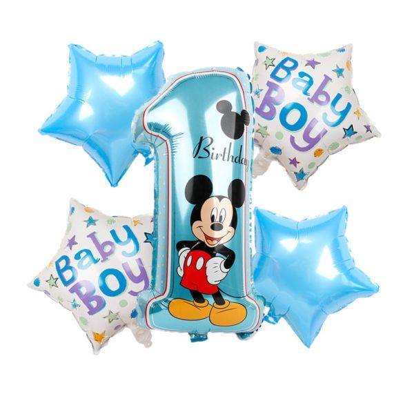 Dekorace na první narozeniny Mickey a Minnie 5ks