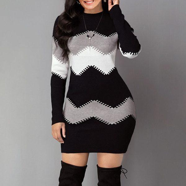 Dámské moderní zateplené zimní šaty Hanna