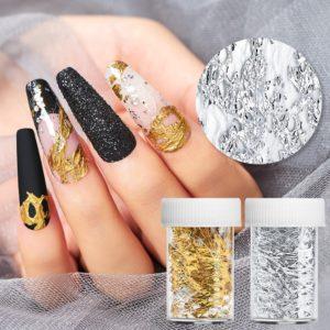 Ozdobné zajímavé hliníkové samolepky na nehty