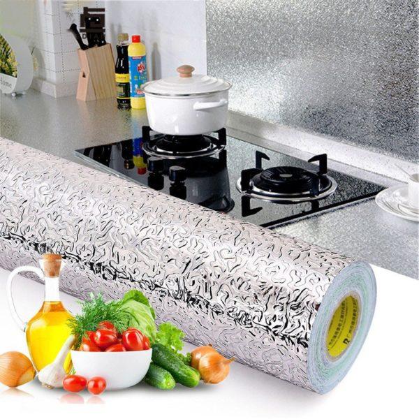 Kuchyňská nástěnná hliníková folie se vzory