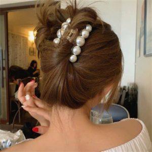Perleťové sponky s perlami do vlasů