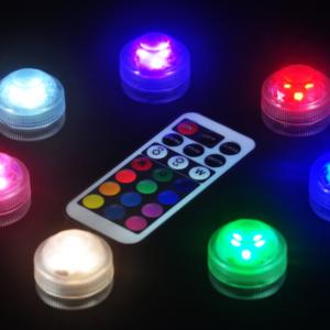 Barevné voděodolné LED světlo do akvária na dálkové ovládání
