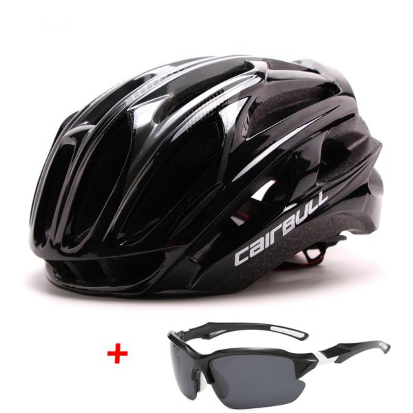 Cyklistická helma + polarizované brýle