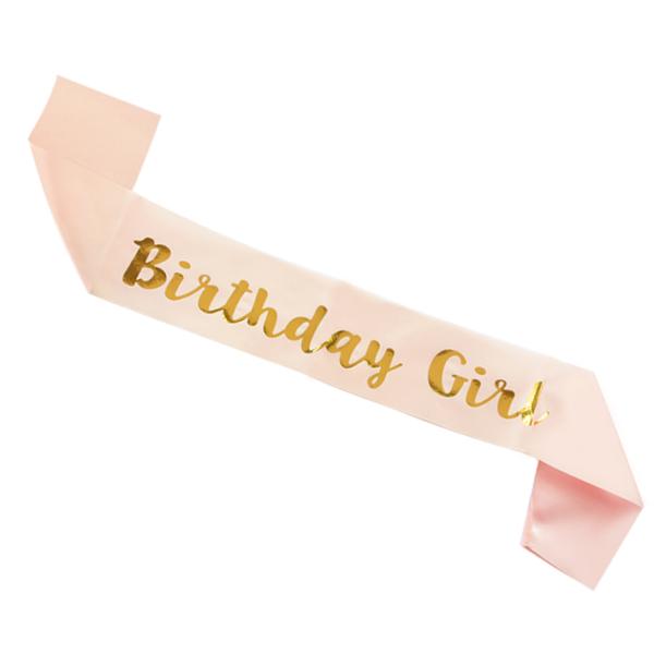 Rose Gold narozeninová šerpa pro holky