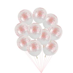 Set balónků na určení pohlaví miminka 10 ks