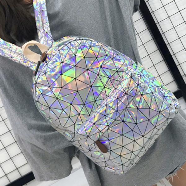 Dámský modní holografický batoh