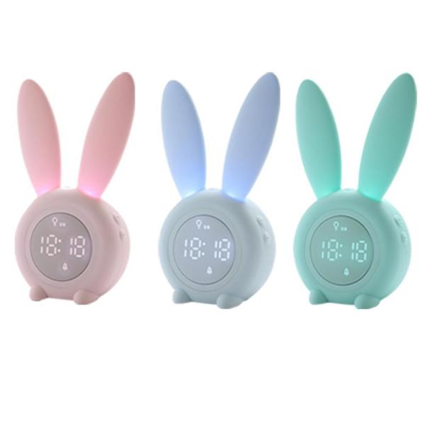 LED budík pro děti s králičími oušky