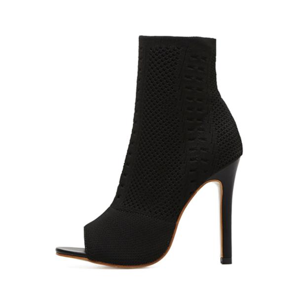 Kotníkové boty na vysokém podpatku s otevřenou špičkou Giorgia
