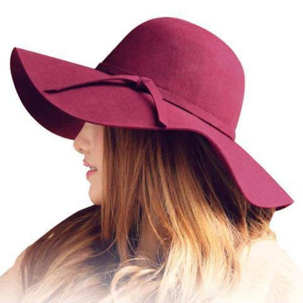 Dámský podzimní široký klobouk
