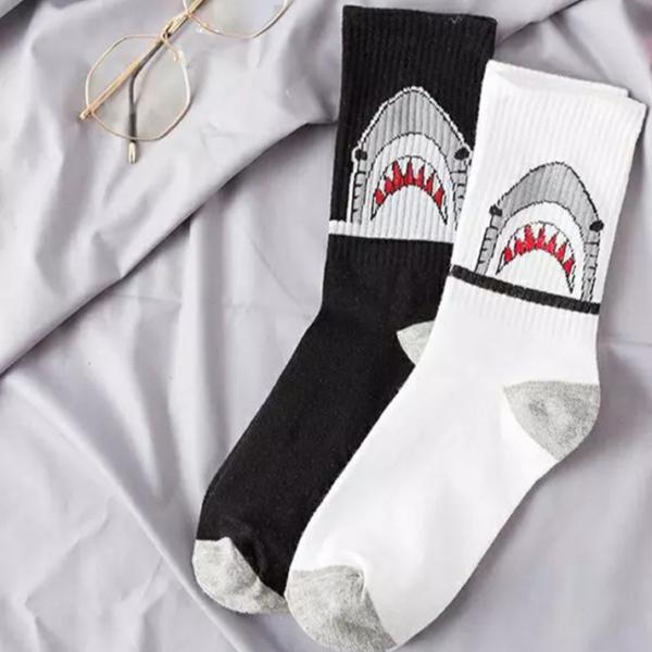 Dlouhé bavlněné unisex ponožky s potiskem