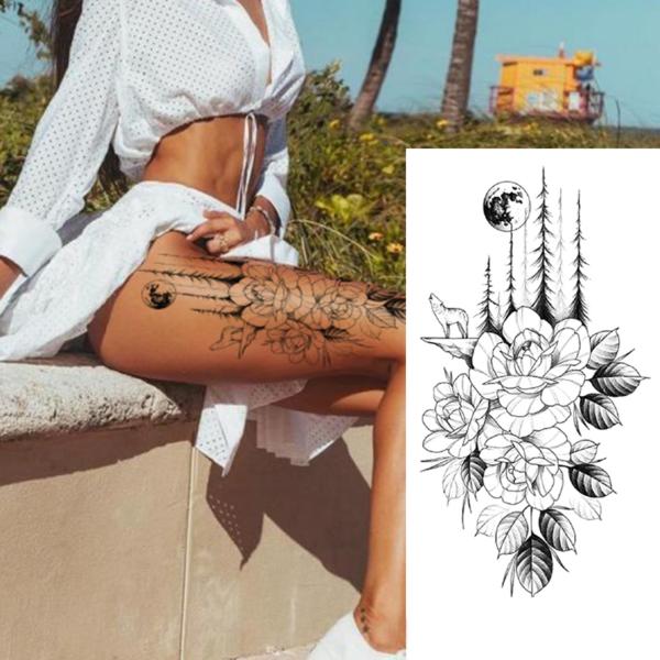 Falešné voděodolné tetování na stehno
