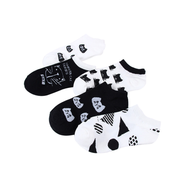 Roztomilé kotníčkové kočičí ponožky