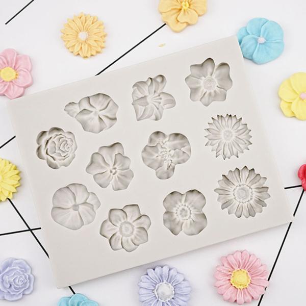 Silikonová forma na květinové cukrovinky
