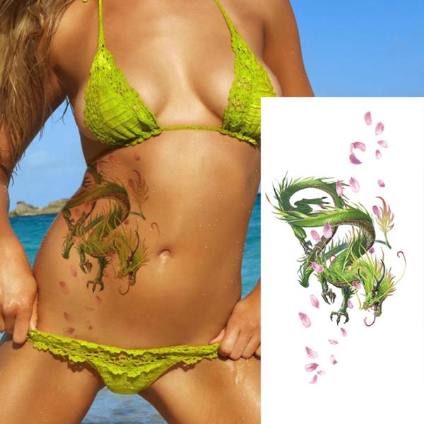Žhavé falešné dámské tetování draka