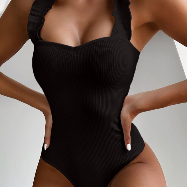 Dámské stylové jednodílné plavky s volánky Nina