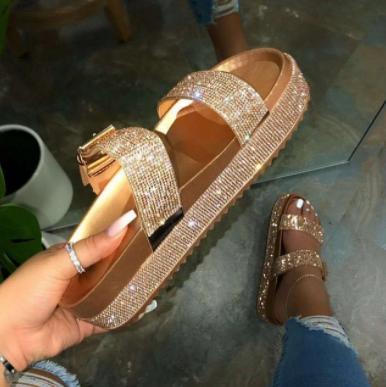 Luxusní dámské třpytivé pantofle Natali