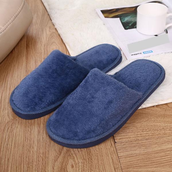 Pánské teplé domácí pantofle