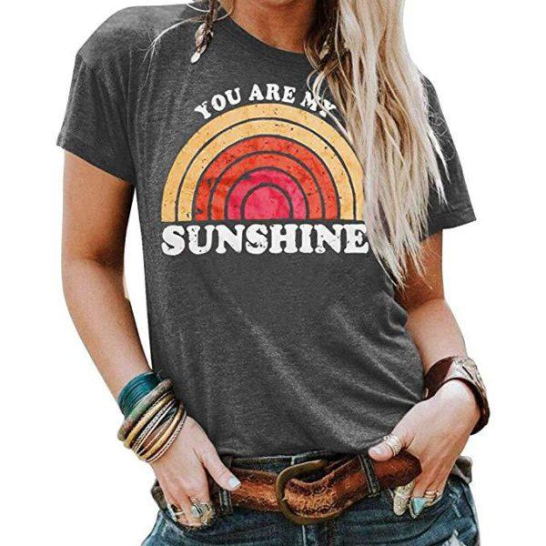Dámské jednoduché letní triko s krátkým rukávem