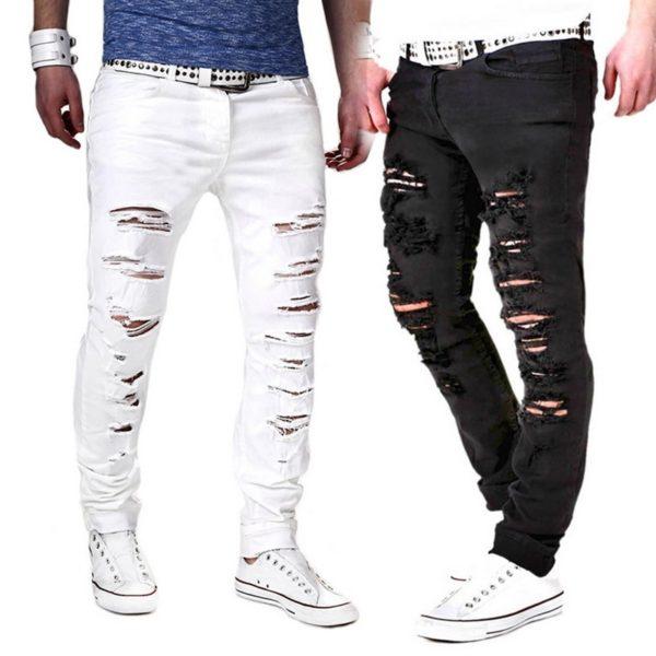 Pánské trendy trhané džíny Marcus