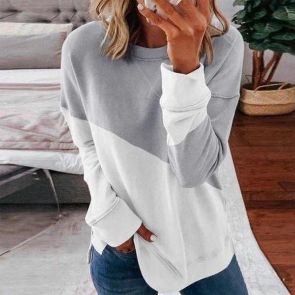 Dámský dvoubarevný svetr s dlouhým rukávem