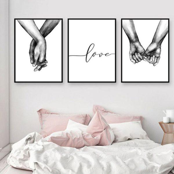 Romantický minimalistický nádherný obraz