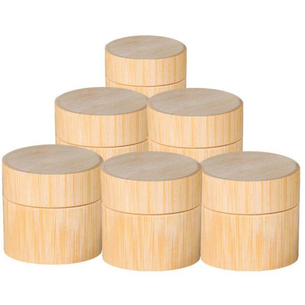 Přírodní bambusové nádoby na kosmetiku