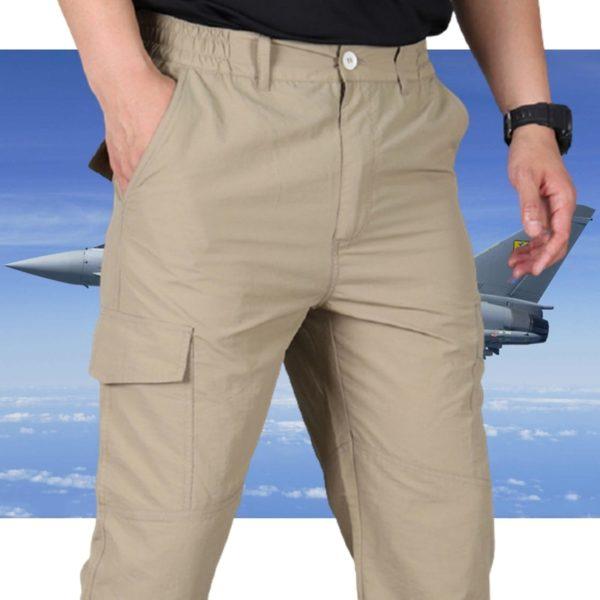 Pánské outdoorové kalhoty v army stylu