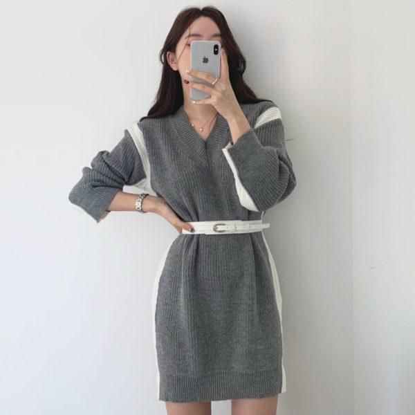 Pletené šaty s dlouhým rukávem Stacy
