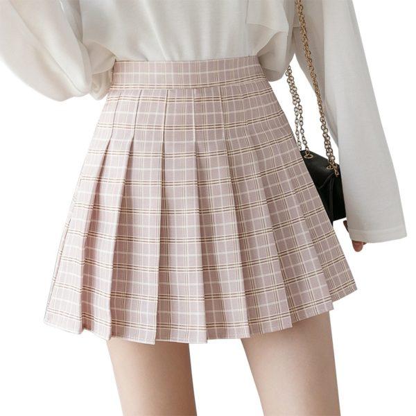 Dámská módní mini skládaná sukně