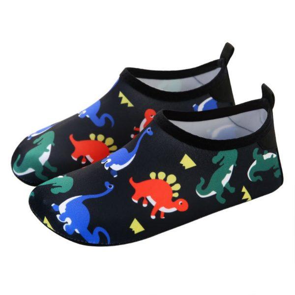Dětské boty do vody s dinosaurem