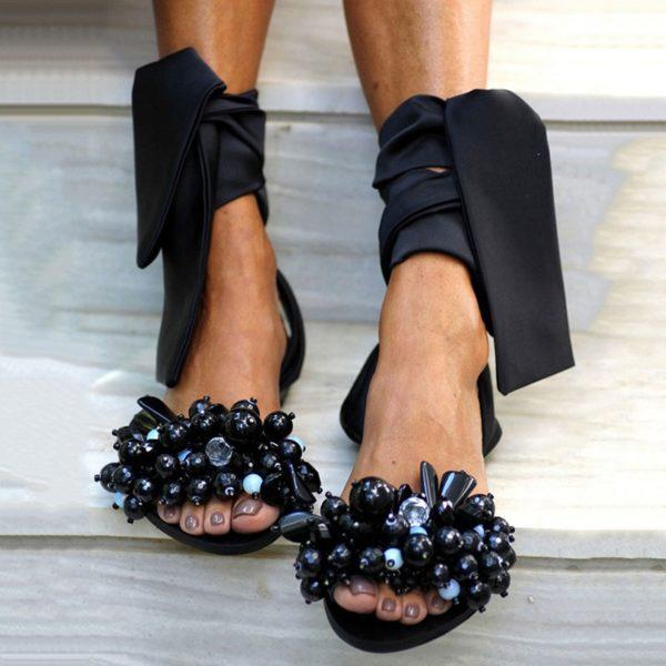 Dámské letní sandálky s vázáním