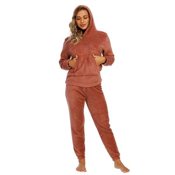 Dámský set teplého zimního pyžama