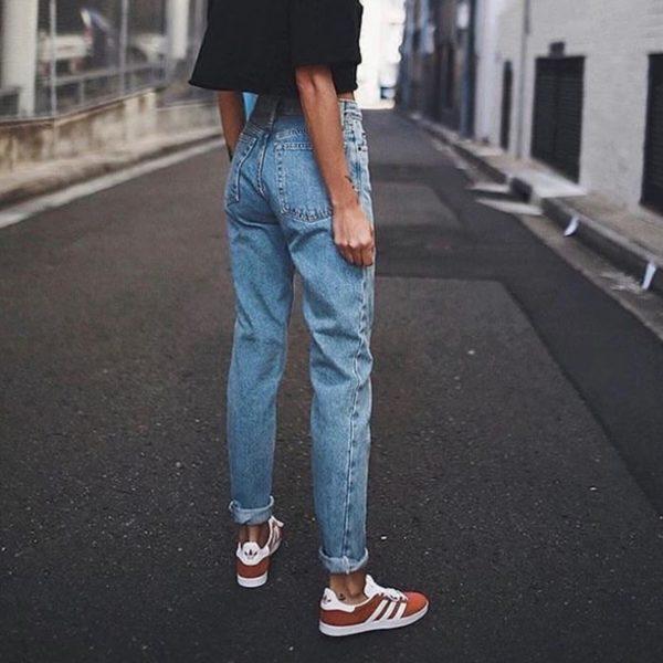 Dámské vintage boyfriend kalhoty
