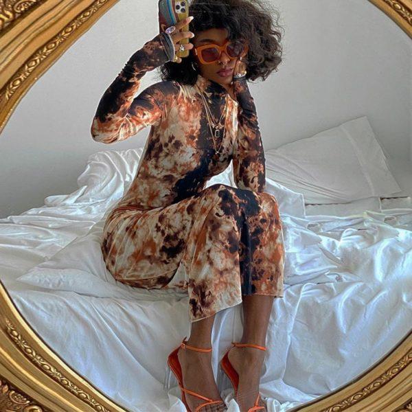 Dlouhé šaty na tělo Asha