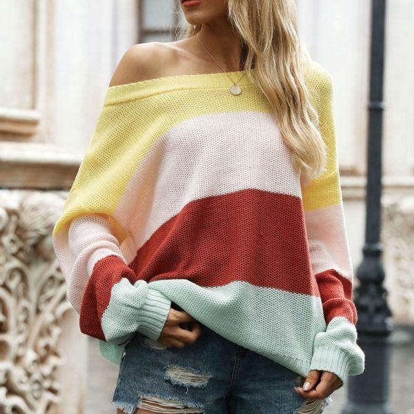Dámský moderní jarní volný svetr Nina