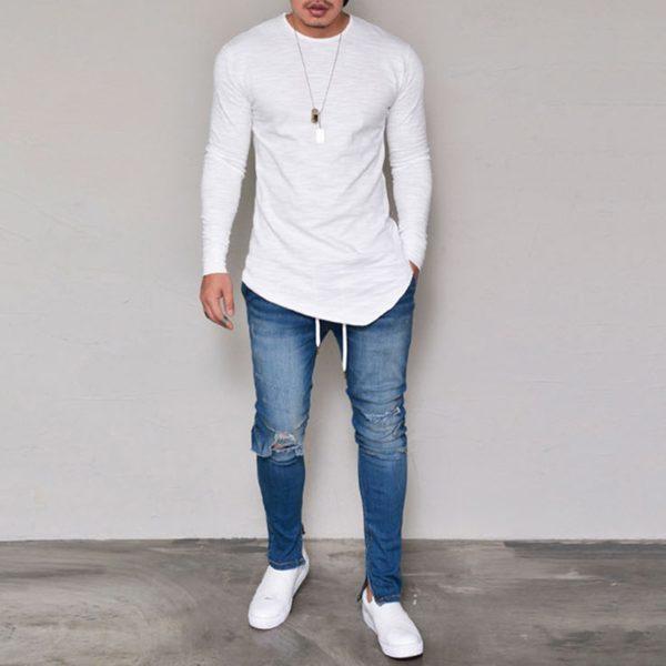 Stylové pánské tričko s dlouhým rukávem Jason