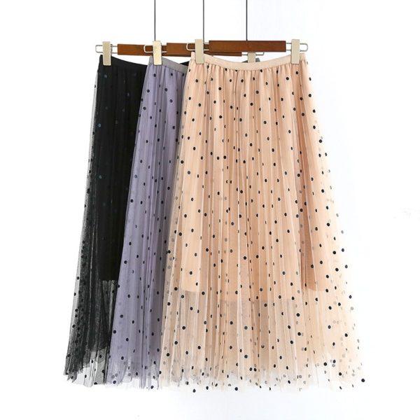 Dámská dlouhá skládaná sukně