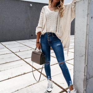 Dámské moderní trhané kalhoty Anna