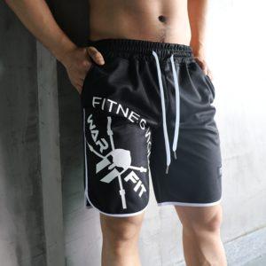 Pánské volné fitness kraťasy s potisky
