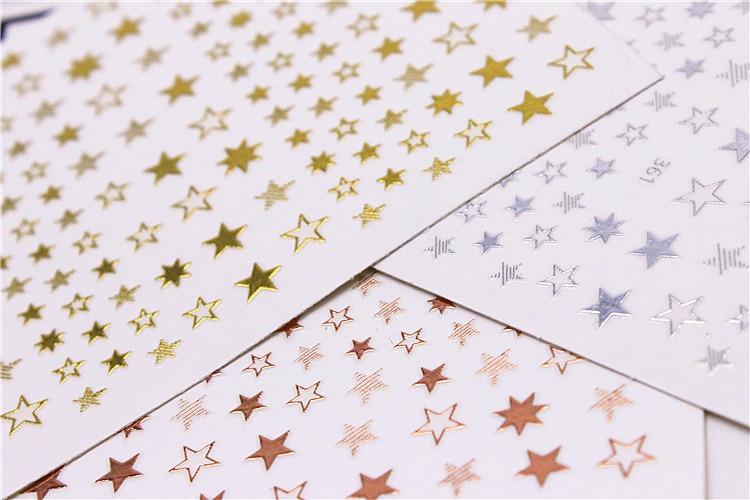 Nalepovací kouzelné hvězdičky na zdobení nehtů