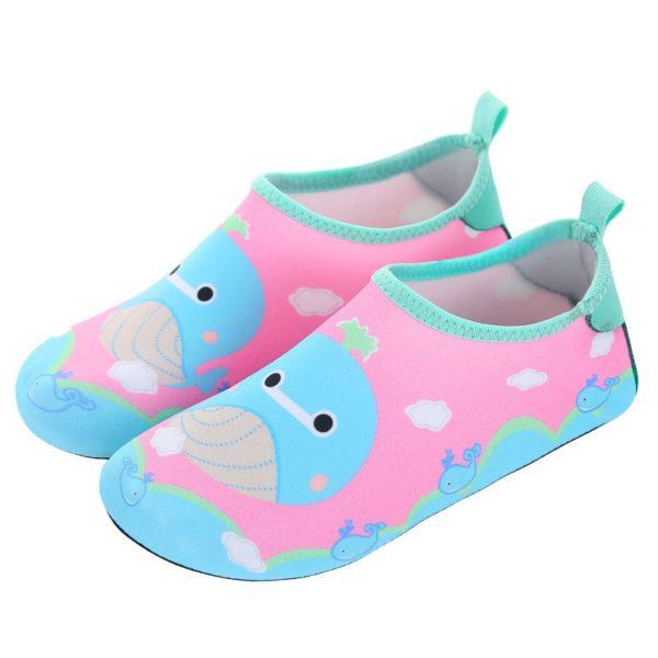 Dětské boty do vody s velrybou
