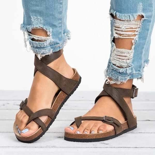 Dámské sandále s korkovou podrážkou